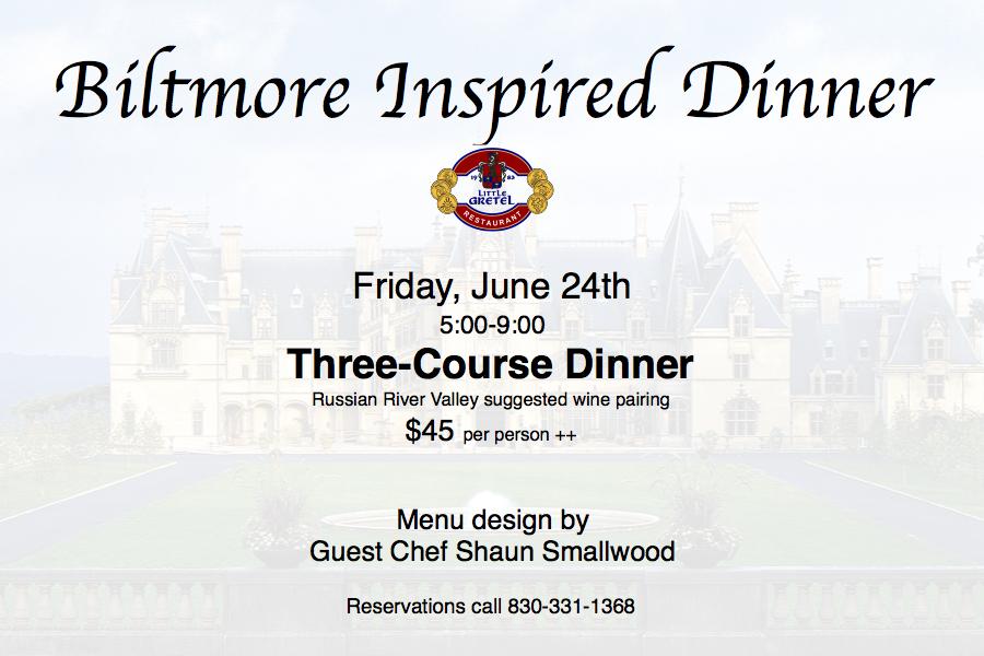 biltmore dinner