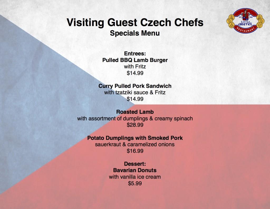 czech menu 2016