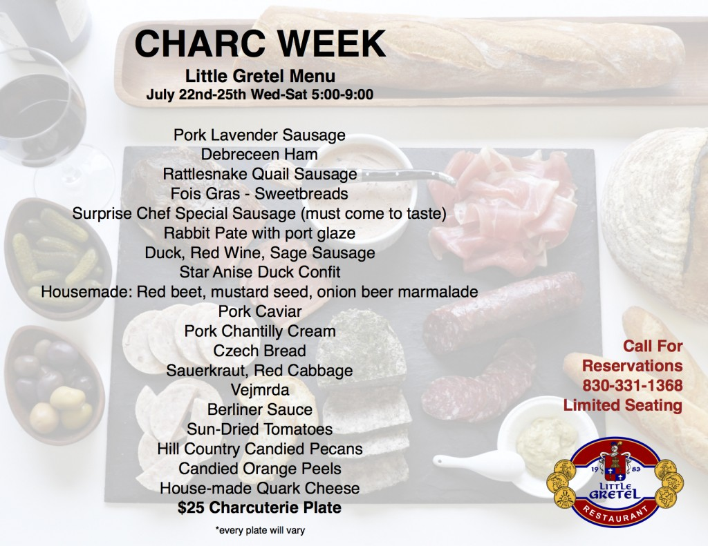 Charc Week Menu table 2016